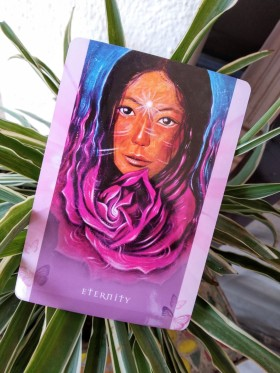 universal wisdom oracle cards, oracle card reading, tony salerno cards, eternity card,