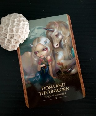 Fiona and the unicorn, shapeshifter deck, lucy cavendish