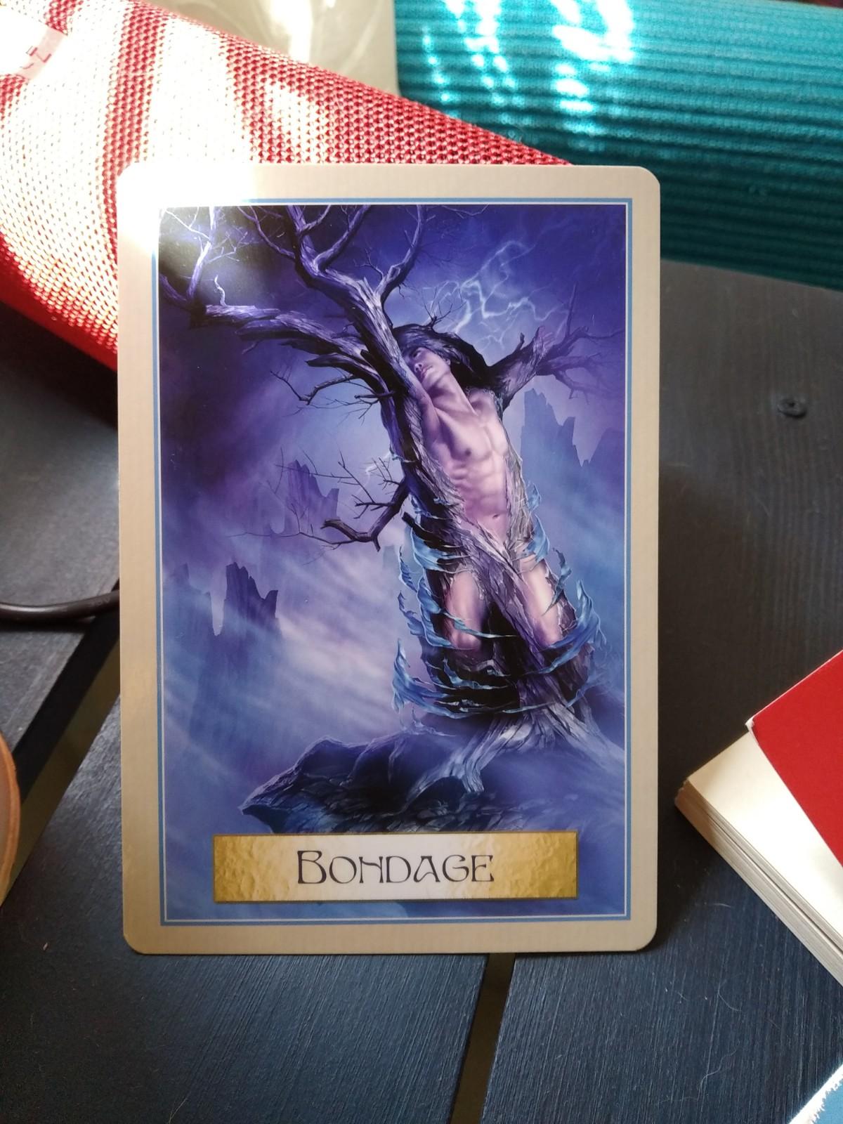 bondage, freedom, tony salerno bondage card, wisdom of the golden path