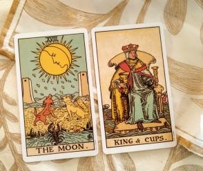 tarot   reading, raider waite tarot, daily tarot, june 2019 tarot, the moon tarot meaning, king of cups