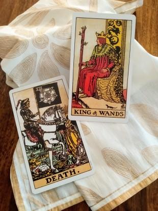 tarot   reading, raider waite tarot, daily tarot, june 2019 tarot, death card, king of wands