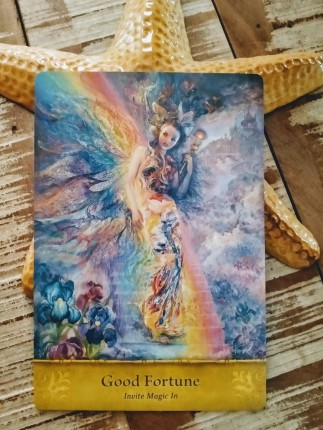 Good fortune oracle card, invite magic in
