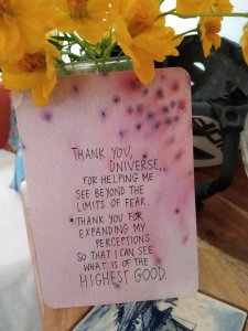 The universe has your back, Gabrielle Bernstein, Message from fear