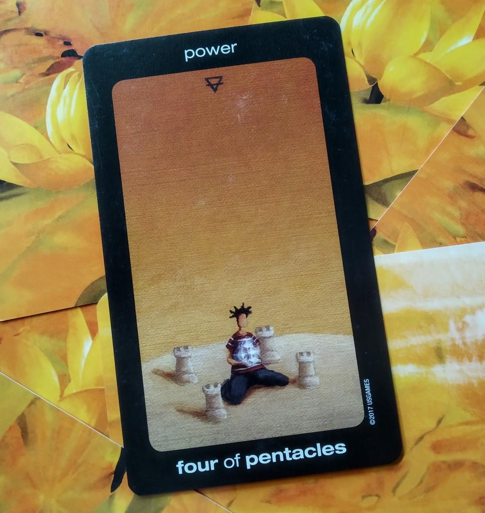 four 4 of pentacles, tarot reading